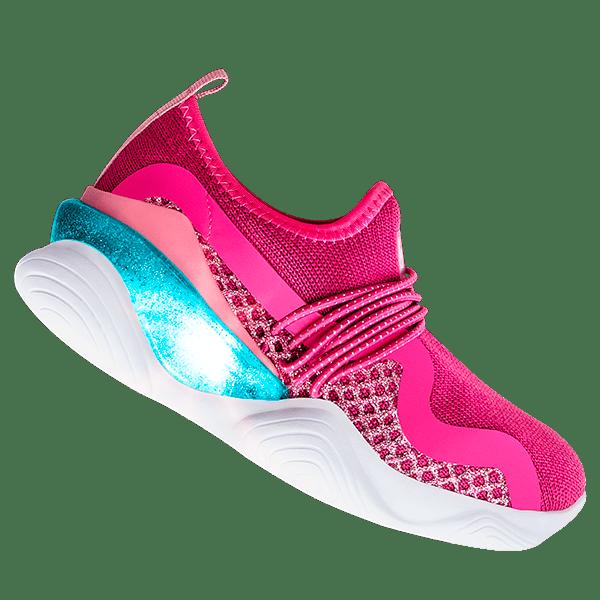 Tênis Infantil de Luz Bibi Light Flow Feminino Pink